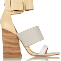 Sigerson Morrison - Poker color-block leather sandals