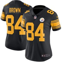 Women's Pittsburgh Steelers Antonio Brown Nike Black Color Rush Limited Jersey