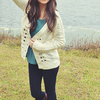 Feels Like Home To Me Cardigan: Ivory