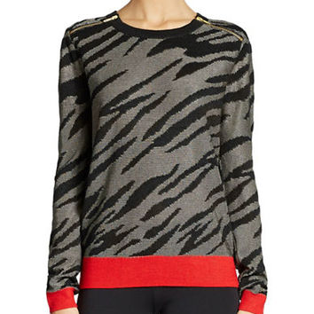 French Connection Zebra Print Sweater
