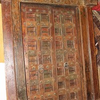 Mogul Interior Antique Haveli Indian Doors Vintage Teak Wood Hand Carved Rustic Architecture Design