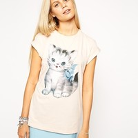 ASOS T-Shirt with Cute Vintage Cat Print