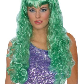 Mermaid Wig Green for Halloween 2017