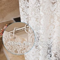 Shower Curtain 1.8*2.0M Vine Pattern Mildew proof PEVA Shower Curtain Waterproof Shower Curtain with Hooks Bathroom Curtain