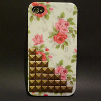 Floral Studded iPhone 4/4s case