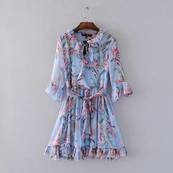 Vintage Boho Short Party Dresses Women Two Piece Set Fringe Ruffle Sexy Summer Dress
