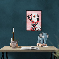 Pet Portrait: Dalmatian Dog, dalmatian dog art, dalmatian dog gift, dalmatian dogs, dalmatian dog decal, dog art, dalmatians, dalmatian dog