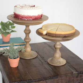 Wooden Cake Stand- 12D x 12T