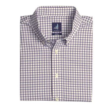 Alumni Button Down Shirt in Purple by Johnnie-O