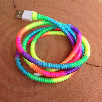 Wrapped USB Charger for Iphone 5, Iphone 6 and Ipad, Wrapped Iphone Cable, Wrapped Charger, Colorful USB Charger, Iphone 5 Accessories
