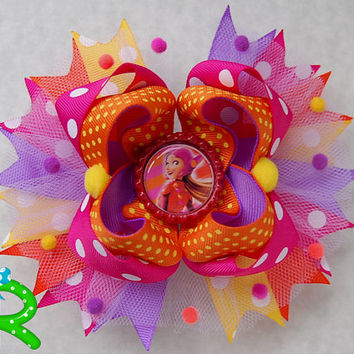 Big Hero 6 Boutique Hair Bow , Honey Lemon Stacked Bow , Ott Bow , Honey Lemon Layered Bow