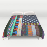 Boho America Duvet Cover by Schatzi Brown