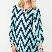 A'GACI Zig Zag Shift Dress - New Arrivals