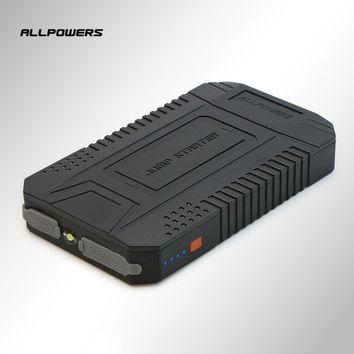 Allpowers 12V Output Vehicle Emergency Starting Power Supply Power Bank 8000mAh High Capacity External Battery Pack With SOS LED