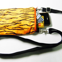 Small Orange Zebra Bag,Iphone Bag,Cellphone Bag,Crossbody Bag,Messenger Bag,Shoulder Bag Gift For Her,Him,Boys,Girls,Men,Women,Mothers
