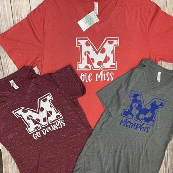NEW Polka Dot Collegiate Tees!!!