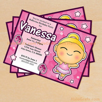 Printable Little Ballerina Birthday Invitations....Customize Your Ballerina