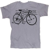 Retro Bike Diagram Bicycle Shirt Screen Printed by happyfamily