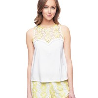 White Daisy Lace Tank by Juicy Couture,
