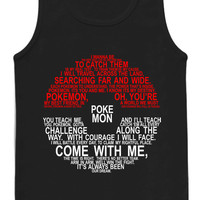 Pokemon Typography tank top for womens and mens