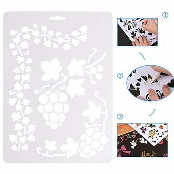 Reusable Stencil Airbrush Painting Art Home Decor Scrap-booking Album Craft