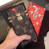 LV 2017 Hot !Stylish Cute On Sale Hot Deal Matte Couple Phone Case For iphone 6 6s 6plus 6s plus iPhone 7 iPhone 7 plus iPhone 8 iPhone 8 plus