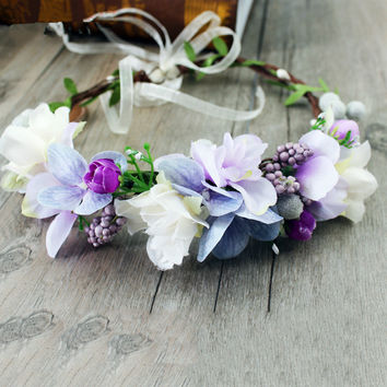 Shades of Periwinkle - Whimsy Flower Crown