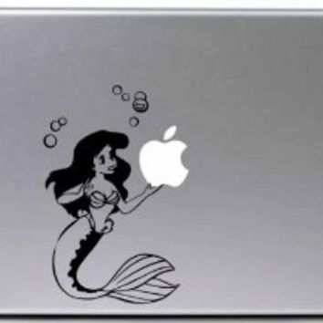 Ariel Little Mermaid Macbook Decal Decorative Laptop Sticker Computer Accessory Electronics Apple Vinyl Decals