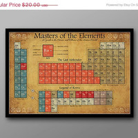 BIG SALE Last Airbender and Legend of Korra, Periodic Table of Characters // Periodic Table of Tribes, Nations, Heroes and Villains
