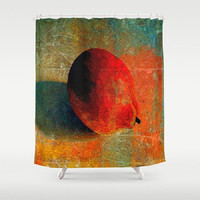 Lemon Still Life, Lemon Graffiti, Orange - Decorative Shower Curtain-Machine Washable - Decor, New Home or Apartment - Made To Order - LG#84