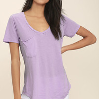 Z Supply Pleasant Surprise Lavender Tee