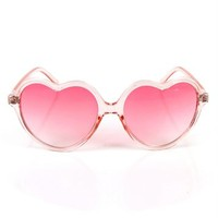 Pink/Clear Heart Shape Sunglasses