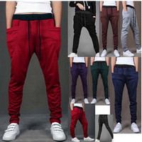 Special Bargain new winter 2015 men's brand Sweatpants mens joggers, men's outdoor sports lace long pants M ~ XXL 8 colors