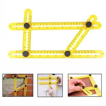ICIKU7Q Angle-izer Template Tool Four-sided Measuring Tool Angle Finder Protractor Multi-Angle Ruler Layout Tool Angle Ruler