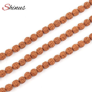 Shinus Buddhist Rudraksha Beads Jewelry Making Mala Prayer 108Pcs Bodhi Bead Stone Tibetan Buddhism Bracelet Chakras Meditation