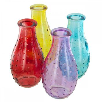 Dot Texture Glass Bottle Vase