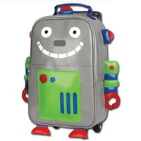 Stephen Joseph Little Boys' Rolling Backpack, Robot, One Size