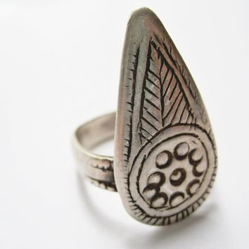 Vintage Silver Shahid Ring from Oman