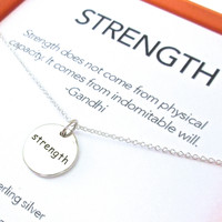 Strength Charm Necklace Set