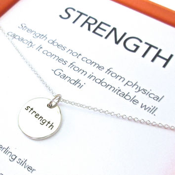 Strength & Courage Charm Necklace Set