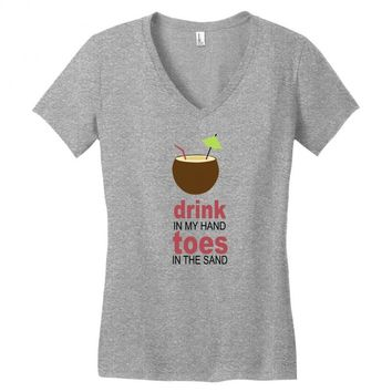 drink in my hand Women's V-Neck T-Shirt