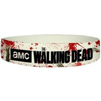 Walking Dead Men's Hands Rubber Bracelet White