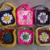 Small Crochet Gift Bags, Gift Pouch for candies, teas, coffees, jewelries or soaps+ (free soap offer )