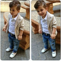 (3 Pcs) 2016 Trending Fashion Kids Boys Girls Baby Clothing Suit Shirt Trousers Pants Toddler Bodysuits Products Set For Children _ 4721