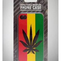 Rasta Stripe with Leaf iPhone 4/4s Snap Cover