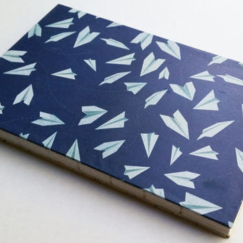 Paper airplanes journal with 80 blank pages 5 1/2 X 8 1/2