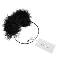 ZLYC Unisex Fashion Classicl Genuine Wool Fur Earmuffs Earwarmer Winter Accessory Black