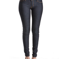 (anb) Super skinny raw denim gold stitch stretch jeans