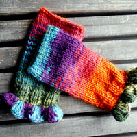 Fingerless gloves, handmade, Knitted Gloves, Gloves Crochet, Mixed Colors, Hand Warmer, Crochet Gloves, Women Gloves