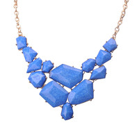 Modern Bib Statement Irregular Geometric Necklace